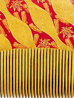 Japanese Lacquer, close up of a Comb, Michael Dean